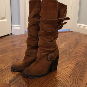Jeffrey Campbell mission style suede boots!! Sz 8